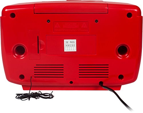 Crosley CR612D-RE Corsair Retro AM/FM Dual Alarm Clock Radio with CD Player and Bluetooth, Red by Crosley (Image #5)