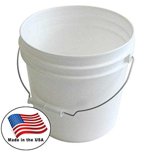 Argee RG502 Plastic Pail, 10-Pack, White
