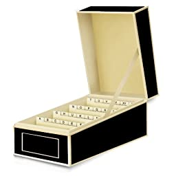 Semikolon Business Card File Box, Dividers A to Z, Black (3230007)