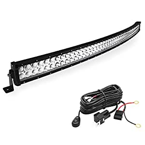amazon com  led light bar yitamotor 50 inch curved led bar