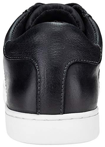 JOUSEN Men's Leather Sneakers Fashion Dress Sneaker Business Casual Shoes for Men (10.5,Black)