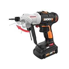 Get ready for a faster, more enjoyable DIY experience with the innovative WORX Switchdriver 2-in-1 Cordless Drill & Driver. The Switchdriver features two 1/4 in. chucks that rotate 180° at the push of a button. This unique dual-chuck desi...