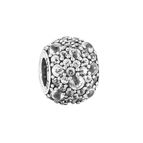 PANDORA 791755CZ Sterling Silver Shimmering Droplets Charm, Clear CZ