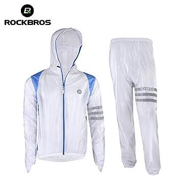 ROCKBROS Lluvia Chaqueta y Pantalón Set Resistente al Agua ...