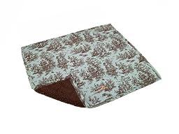 AlphaPooch Sleeper Pet Blanket, Celedone Toile Fabric with Fleece, Large