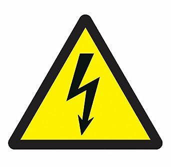 Schilder und Etiketten amzsrsl008 Elektrische Hazard Symbol ...