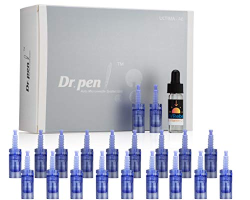 Dr. Pen 20 pieces Cartridges and 1 Vial UVRebel Glide Serum