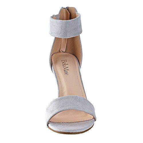 Bella Marie Di Anna Shoes Donna Elysa-1 Polsino Alla Caviglia Dressy Sandal Grey