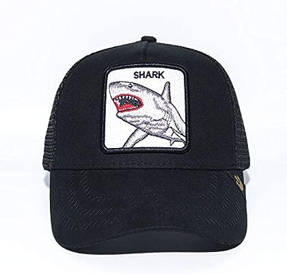 sdssup Gorra De Béisbol Bordada Fox Gorra De Béisbol Tiburón Negro ...