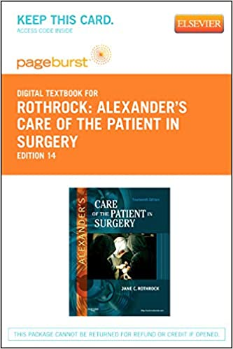 alexanders care of the patient in surgery 14th edition