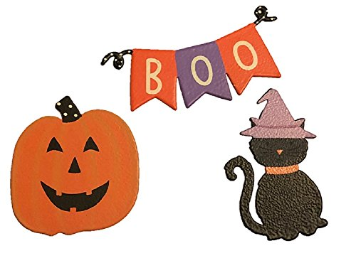 - Roeda Brighten Your Life 25008M Boo Banner with Halloween Icon Magnets Set of 3 Assorted