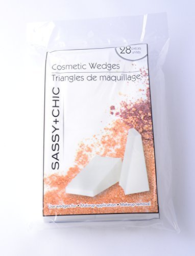 Sassy + Chic Professional Cosmetic Makeup Wedges (Pack of 28) by Eve + Belle