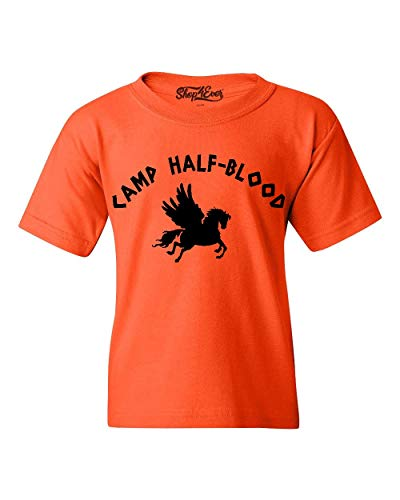 - Shop4Ever Camp Half Blood Youth's T-Shirt Youth Large Orange 0
