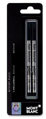 Montblanc MNB15158 - Rollerball Pen Refill, Medium Point, 2/PK, Black Ink