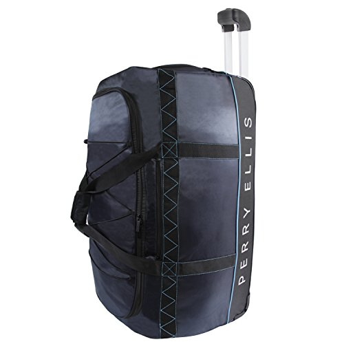 "41CocXEALyL - Perry Ellis Men's 24"" Lightweight Rolling Bag-A324 Duffel Bag, Navy/Blue, One Size"