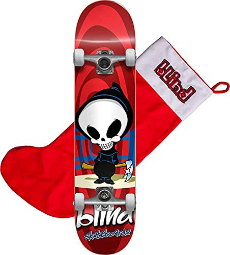 tro Reaper Red Mid Complete Skateboards Includes Free Stocking - 7.37