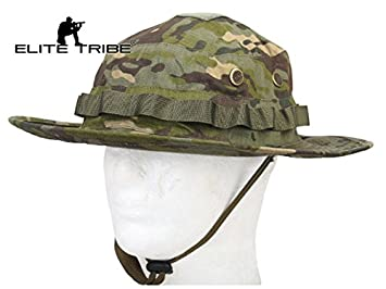 ca022635723d7 Image Unavailable. Image not available for. Colour  Elite Tribe Hiking  Hunting Combat Hat Tactical Boonie Hat Multicam Tropic
