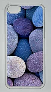PC Hard Shell Rocks in Pattern with Transparent Skin Edges for Iphone 5C Case