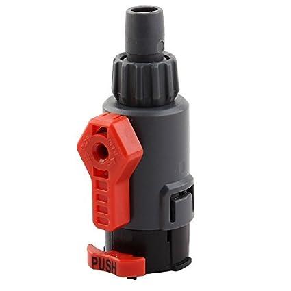eDealMax Adaptador Conector del tubo de la manguera de la válvula de Control de flujo de