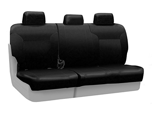Coverking Custom Fit Rear 60/40 Bench Seat Cover for Select Toyota FJ Cruiser Models - Genuine Leather (Black)