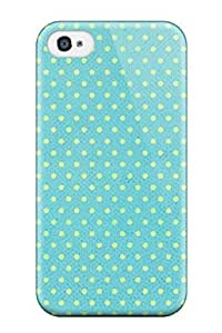 Cute Tpu Earurns Happy Dotted Green Case Cover For Iphone 4/4s by lolosakes