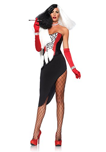 Cruel Diva Adult Womens Costumes (Leg Avenue Women's 5 Piece Cruel Diva Costume, Multi, Large)