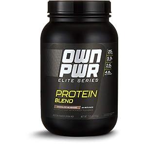 Amazon Brand OWN PWR Elite Series Protein Powder, Protein Blend (Whey Isolate, Milk Isolate, Micellar Casein)