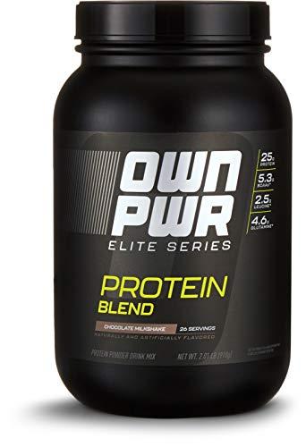 OWN PWR Elite Series Protein Powder, Chocolate Milkshake, 2 lb, Protein Blend (Whey Isolate, Milk Isolate, Micellar - Protein Powder Elite