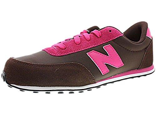 New Balance KL410 - Zapatillas de deporte de lona infantil Marrón (HPY BROWN/PINK)