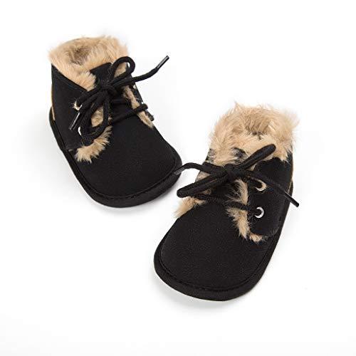 Nacidos De Niños Negro Blanda Auxma Grueso Botas Suela Invierno Niñas calzado zapatos Para Bebé Bebés Recién Pequeños IO0wZqTO