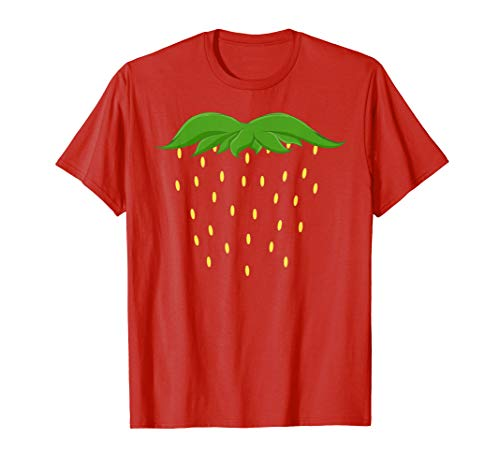 Strawberry Costume t-shirt Berry Fruit Halloween shirt]()
