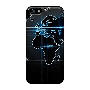 Awesome Design World Map Hard Case Cover For Iphone 5/5s