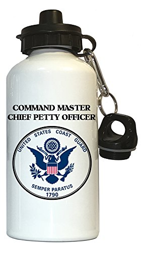 Coast Guard Chief Petty Officer (Command Master Chief Petty Officer - US Coast Guard Water Bottle White, 1023)