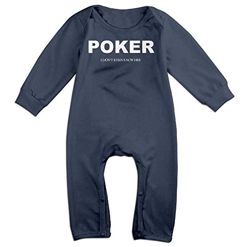 Price comparison product image Poker I Don't Ever Know Her Infant Romper Jumpsuit Playsuit Outfits Navy 6 M