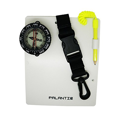 "Palantic Scuba Dive Writing Slate with 2"" Compass and Pencil"