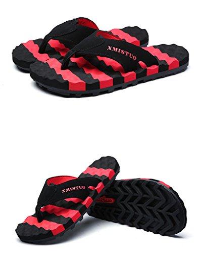 Slipper Comfy Anti for skid Flip Sandals flop Extra Beach Auspicious Wide Red Summer beginning Platform Men 48nx5BA