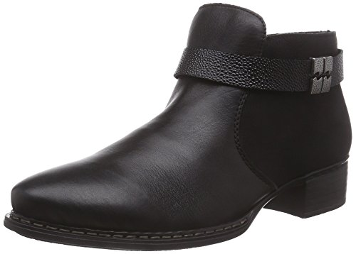 Rieker73660 - botas Mujer Negro - Schwarz (schwarz/schwarz/black / 01)