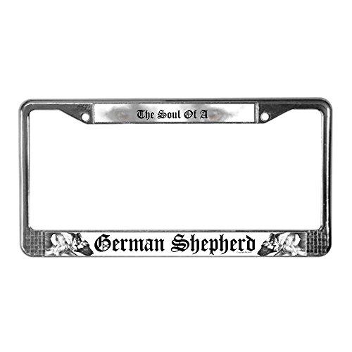 CafePress - The soul of a German Shepherd - German License Plate Funny