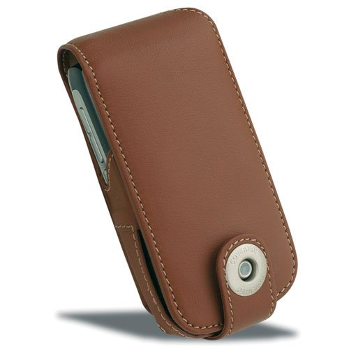 - Covertec Palm Treo 680750v Luxury Leather Case - Tan