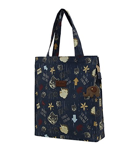 Blue Large Bag Navy Shopping Zipped Tote rtgrXw