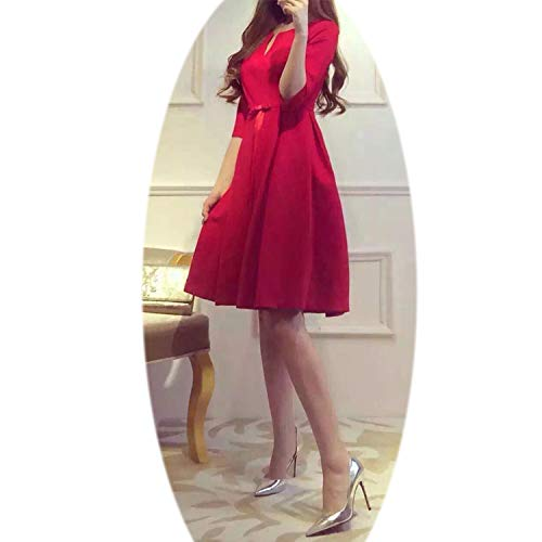 Large Size Autumn Clothes Female Fat MM2018 New Red Dress Sister Cover Belly Tib