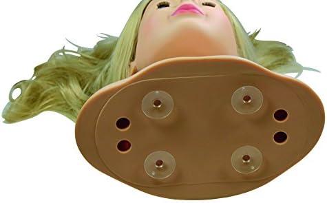 Götz 1192052 Haarwerk mit blonden Haaren und blauen Augen - 28 cm hoher Frisierkopf- und Schminkkopf in 58-teiligen Set - geeignet für Mädchen ab 3 Jahren