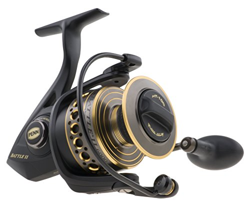 - Penn 1338218 Battle II Spinning Reel, 3000