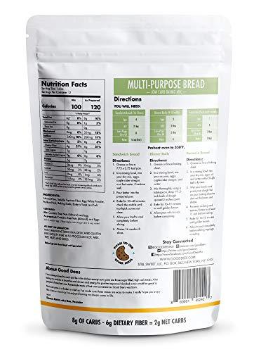 Good Dee's Multi Purpose Bread Mix – Low carb, Keto friendly, Sugar Free, Gluten free, Grain Free, Atkins friendly, Diabetic friendly, WW Friendly, 2g net carbs , 12 servings 2