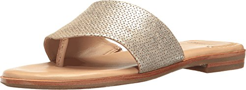 - Johnston & Murphy Women's Raney Gold Italian Laser Cut Metallic Suede 8.5 M US