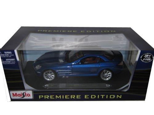 Mercedes Mclaren SLR Blue 1:18 Diecast Model Car