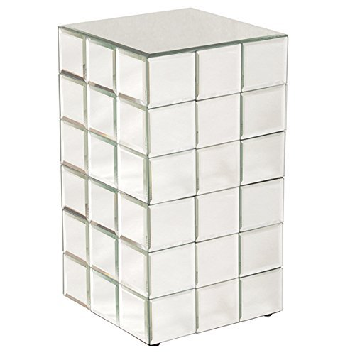 Howard Elliott 11044 Mirrored Puzzle Cube Pedestal, Medium