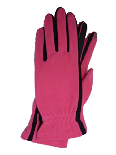 Isotoner Smart Touch Womens Pink Fleece Unlined Smartouch Text & Tech Gloves