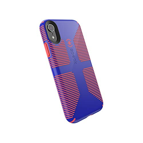 (Speck Products CandyShell Grip iPhone XR Case, Cyber Blue/Grapefruit)