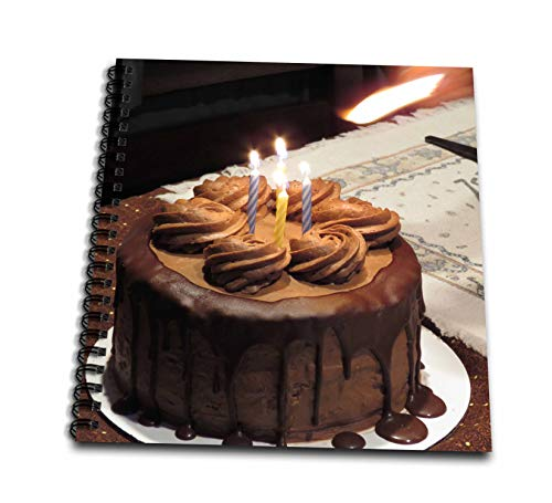 Album 12x12 Chocolate (3dRose Jos Fauxtographee- Celebration Cake with Candles - A Photo of a Chocolate Cake with Candles for a Celebration - Memory Book 12 x 12 inch (db_290428_2))